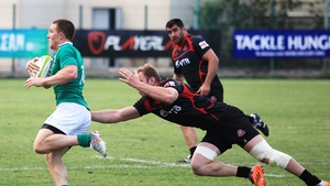 Andrew Conway makes a break during the game in Tbilisi