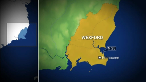 The crash happened on the N25 at Kilmacree, Co Wexford around 12.25pm