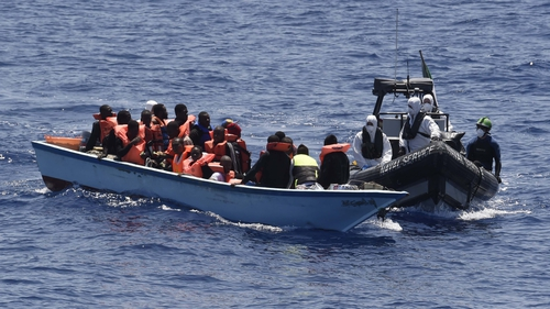 There are now approximately 519 migrants on board LÉ Eithne (Pic: Irish Defence Forces)
