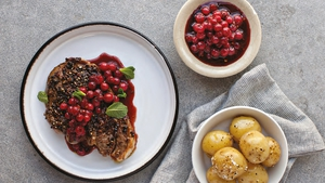 Neven Maguire's Sichuan Peppered Lamb with Spiced Redcurrant Compote