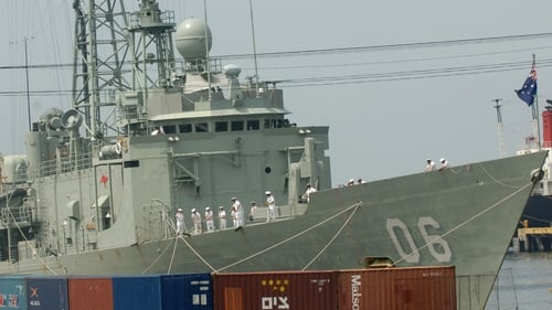 The HMAS Newcastle intercepted a dhow carrying the drugs