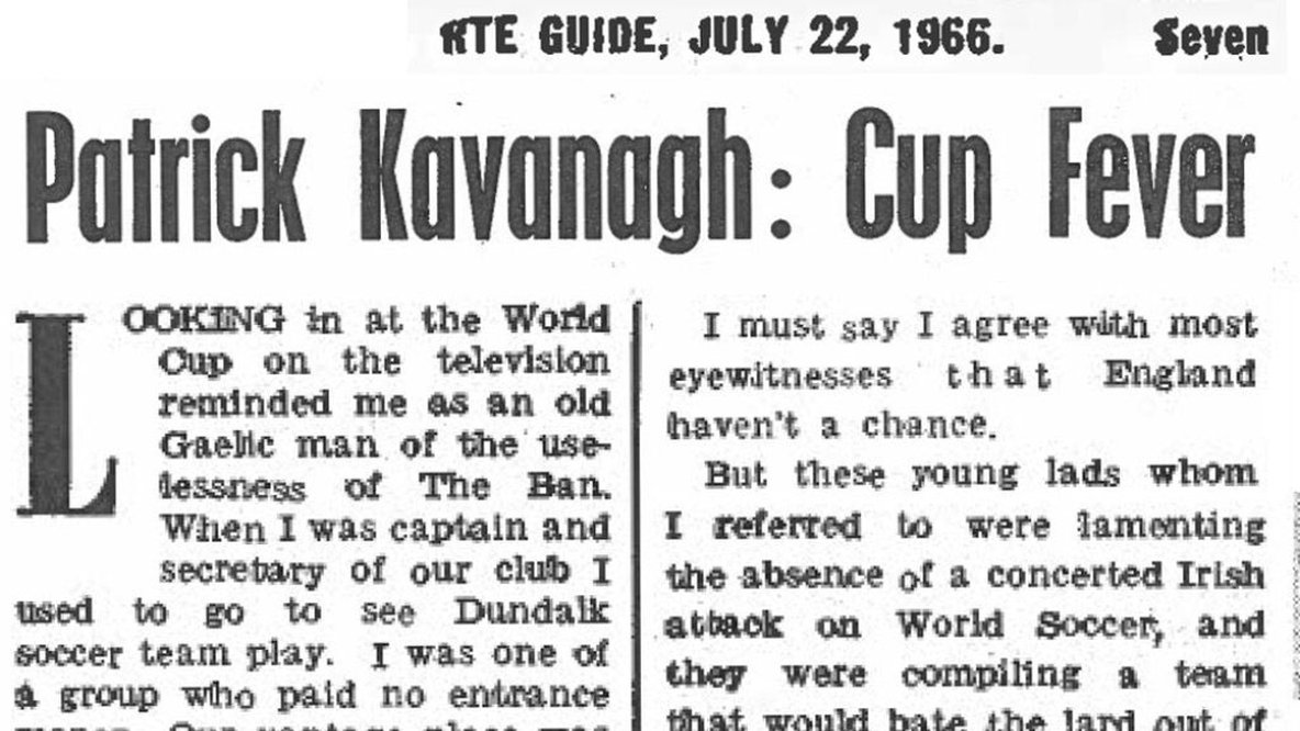 Patrick Kavanagh Previews 1966 World Cup