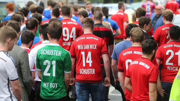 Friends and family attended the funeral of Niccolai Schuster in Dublin today