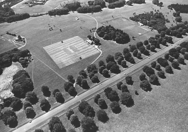 Aerial View of Phoenix Park Cricket Pitch