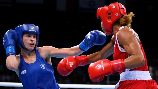 Katie Taylor in action in the European Games lightweight final