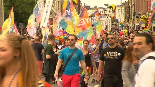 Tens of thousands marched across Dublin city centre