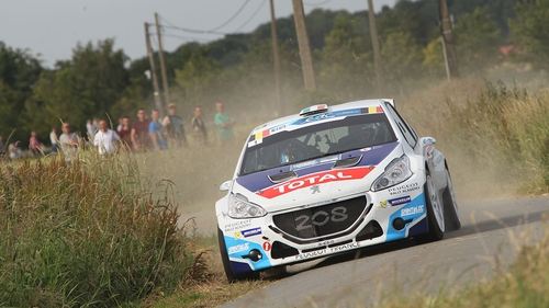Craig Breen picked up a puncture on stage four