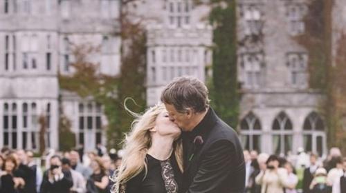 Skateboarding star Tony Hawk and his blushing bride, Cathy Goodman Photo copyright: Tony Hawk, Instagram
