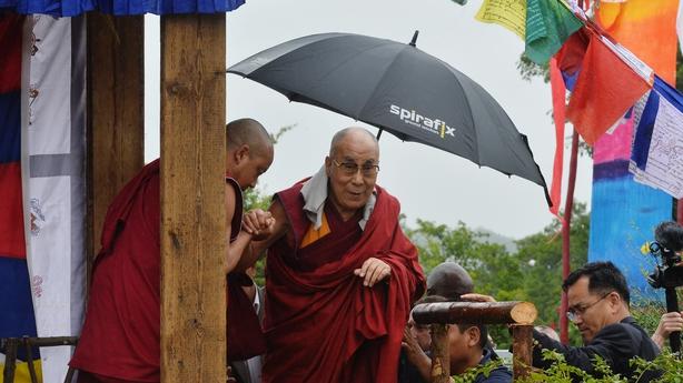 The Dalai Lama stresses the importance of moral education to Glastonbury crowds 000ac856-614