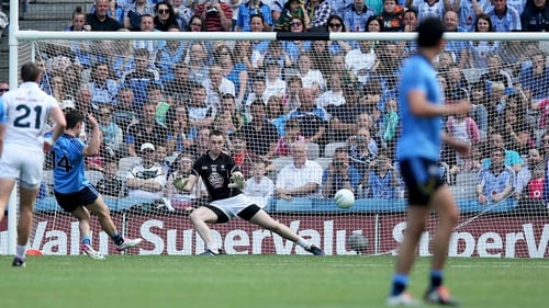 Diarmuid Connolly scores Dublin's fourth goal from the penalty spot