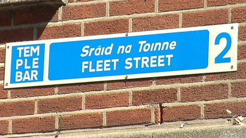 The incident happened at around 8pm on Fleet Street in the city centre