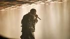 Kanye West performing at Glastonbury 2015