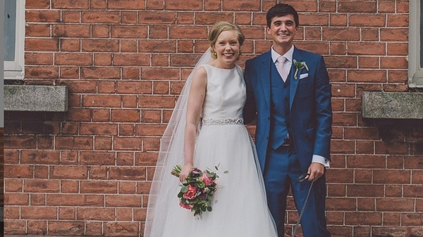 The lovebirds: Donal Skehan with his beautiful wife Sofie