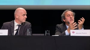 Gianni Infantino (L) with Michel Platini