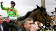Ruby Walsh on Kauto Star after winning the Cheltenham Gold C