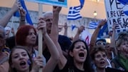 People demonstrate in favor of 'Yes' in the upcoming Greek referendum