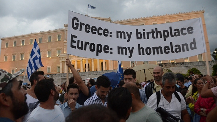 Some sympathy for Greek government in Athens