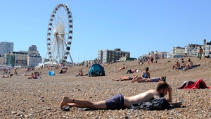 Temperatures hit the record high in Heathrow this afternoon