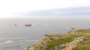 The search operation is taking place just outside the entrance to Baltimore Harbour