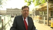 Brian Cowen arrives at the Banking Inquiry this morning