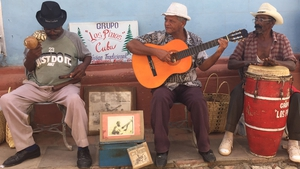 Musicians on the streets of Trinidad
