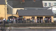 Hundreds of people queued at the funeral home in Athlone
