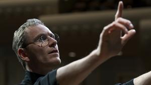 Fassbender in a scene from Steve Jobs
