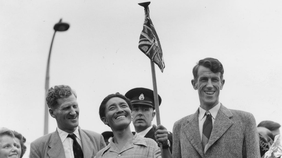 Colonel John Hunt, Tenzing Norgay, and Edmund Hillary