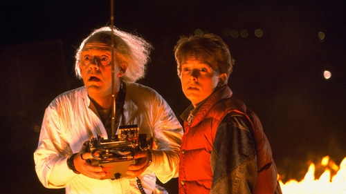 Back to the Future stars Christopher Lloyd and Michael J Fox