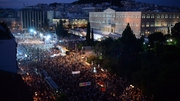 Thousands of people are on the streets of Athens