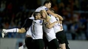 Dundalk celebrate their late winner