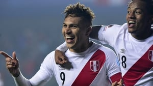 Guerrero struck late on to move alongside Chile's Eduardo Vargas on four goals for the tournament