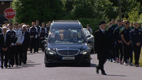 Lorna Carty's funeral was held at the Church of the Assumption in Robinstown in Co Meath