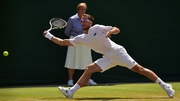 Viktor Troicki made light work of Dustin Brown on Centre Court