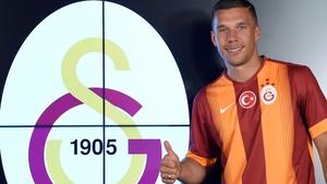 Lukas Podolski  spent the second half of last season on loan at Inter Milan