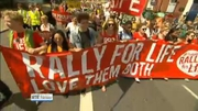 Six One News Web: Thousands take part in Dublin pro-life rally