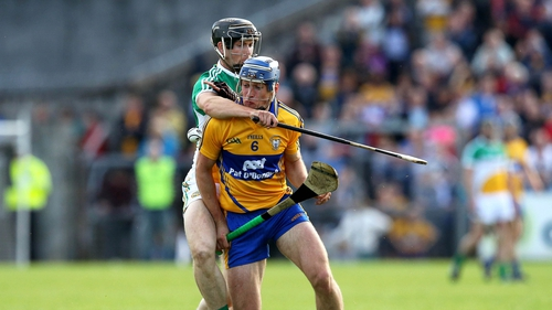 Clare's Conor Ryan and Dan Currams of Offaly