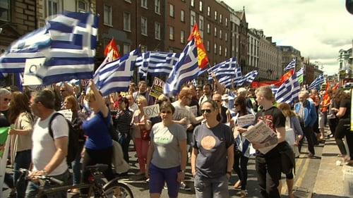 The demonstration made its way to the Dáil and the offices of European Commission in Dawson Street