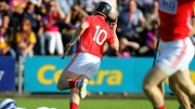 Cork's Conor Lehane celebrates scoring a goal against Wexford