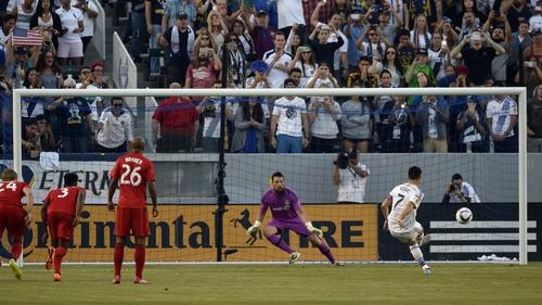 Robbie Keane scored an early penalty for LA Galaxy