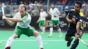 Peter Carruth fires home Ireland's second strike