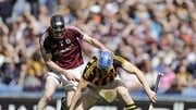 Kilkenny's T J Reid with Padraig Mannion of Galway