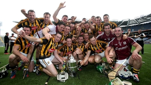 Kilkenny celebrate their success in the Bob O'Keeffe Cup