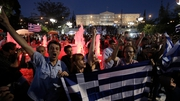 Thousands have gathered in  Syntagma Square in Athens to celebrate the majority No vote