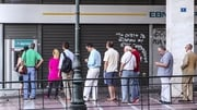 Long queues have been forming at ATMs in Greece