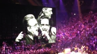 Acrobat joined U2 for a performance of the Rattle and Hum hit Desire Screengrab copyright: YouTube user 'Talie'