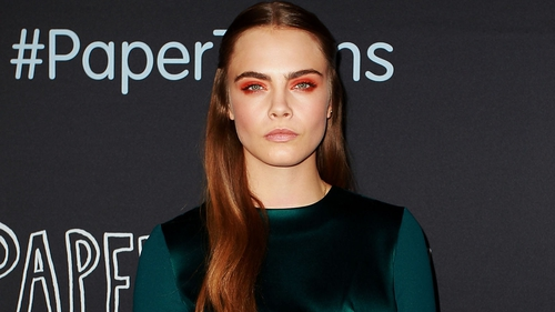 Cara Delevinge at the Australian premiere of Paper Towns in Sydney