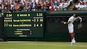 Novak Djokovic came from two sets down to beat Kevin Anderson