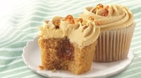 Surprise Inside Caramel Cupcake Centres  - Fluffy cupcakes with surprise goodness inside!