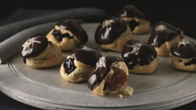 Chocolate and Caramel Choux Bites